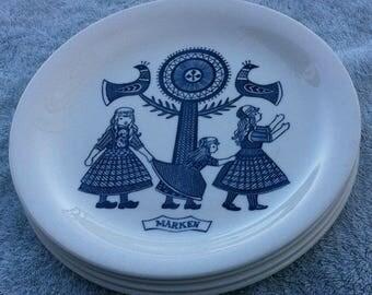Four (4) Royal Sphinx Maastricht Dutch Folklore plates