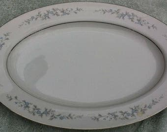 Forge Me Not oval serving platter