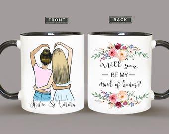 Maid Of Honor Proposal Mug, Will You Be My Maid Of Honor Mug, Proposal Mug For Maid Of Honor, Proposal Matron Of Honor Proposal Mug