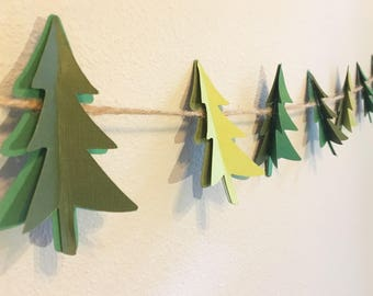 Tree Garland - Holiday Garland - Christmas Tree Garland - Christmas Garland