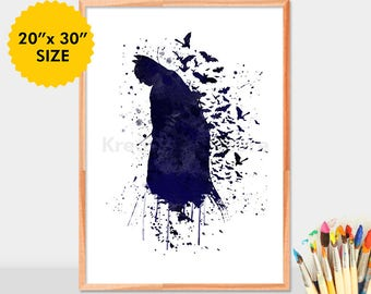 Batman watercolor Poster, Batman art, Superhero, batman printable, batman print, batman wall art, dc comics, batman wall decor,