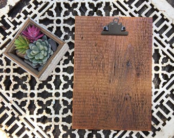 Reclaimed wood clipboard print or photo holder