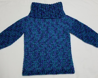 Child Cowl sweater, turtle neck sweater, baby sweater, toddler sweater, child sweater, teen sweater