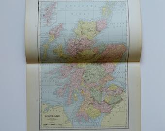 1888 Large Scotland Antique Map - Shetland Islands - Vintage Scotland Map - Old British Empire Map - Antique Map Decor - Office Art - Prints