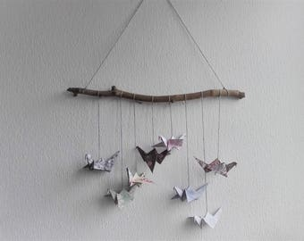 Cranes | Wall decoration/mobile with origami