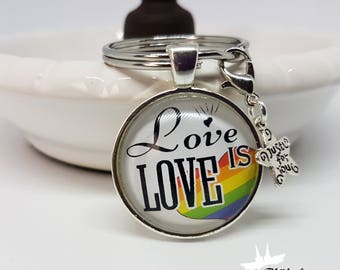 Gay Keychain, Keychain for gays and lesbians, gift for homosexuals, saying, charms, handmade, gift for partners
