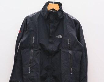 Vintage THE NORTH FACE Hiking Ice Mountain Summit Series Black Jacket Windbreaker Size L
