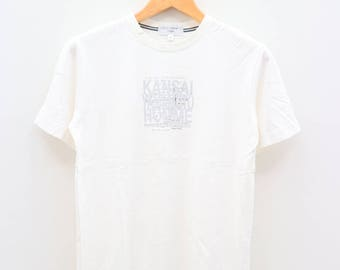 Vintage KANSAI YAMAMOTO Homme I See My Self In You The Freedom Of Release White Tee T Shirts Size M