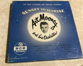 Art Mooney Sunset to Sunrise 4 Record 45 set
