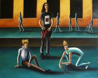 EVOLUTION - surreal painting