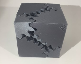 Fidget Cube | Gear Toy | Gear Cube | Fidget Toy | 3d printed | Stress Relief | Office Toy | Desk toy | Boredom Relief | Steampunk | Puzzle
