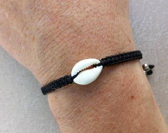 Bracelet macrame and shell