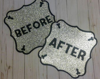 Bachelorette Before and After Party Signs with Penis Accents