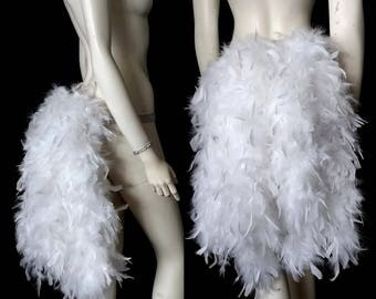 Thick Feather Tail Fan tail back cover Feather Bustle Boa tutu feather belt COSTUME SHOWGIRL BURLESQUE