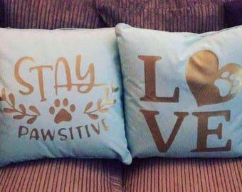 dog cushion, decorative cushion, puppy cushion, pet cushion, dog cushion, dog bed, puppy decor, dog decor, home decor, quoted cushion