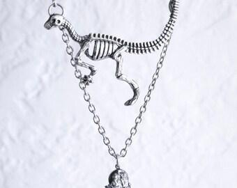 Campo del Cielo Meteorite Dinosaur Skeleton Necklace