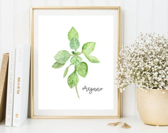 Herbs Printable, Oregano Printable, Herbs Wall Art, Herbs Print, Oregano Art, Oregano Print, Oregano Poster, Kitchen Printable
