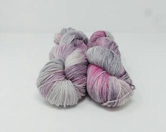 Wicked - 4ply Spark hand dyed yarn – Superwash 75/20/5% Merino / Nylon / Lurex