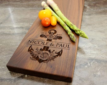 Personalized Cheese Board, Serving Board, Bread Board, Custom, Engraved, Wedding Gift, Housewarming Gift, Anniversary Gift, Engagement #16