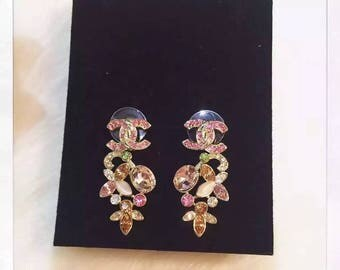 Gorgeous multicolored chanel Inspired shiny earrings