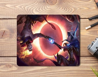 League of Legends:  Cosmic Dusk Xayah and Cosmic Dawn Rakan Splash art Gaming Mousepad (196 x 235 x 5 mm)