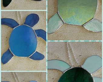 Stained Glass Baby Sea Turtle