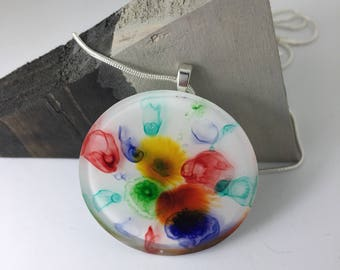 Colorful summer resin necklace necklace cool design
