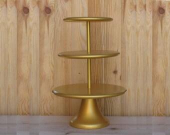 3 Tier Cupcake Stand 12/14/16 Wedding, Bridal, Birthday Сustom Cupcake Stand Gold Cupcake Tower