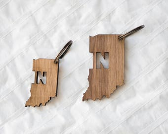 IN Wood Keychain