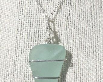 Sea Foam Green Sea Glass Nexklace