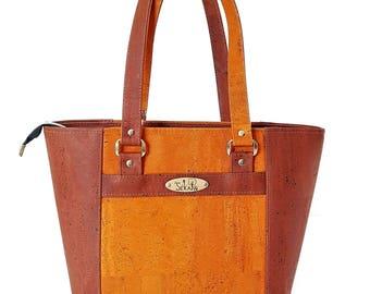 Tote bag VEGAN Cork. Vegetable fabrics. To order 100% custom creation. FREE shipping