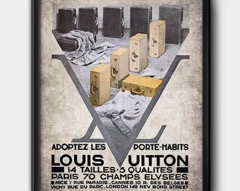 Louis Vuitton Ad · 1930s · Instant Download · Vintage · Fashion · Printable #130