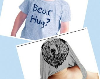 5T - Toddler Grizzly Bear Funny Bear Hug Shirt