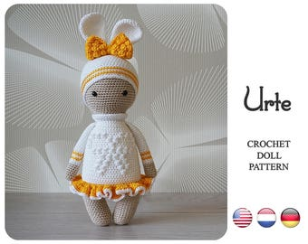 Crochet bunny pattern - Urte by ZyZu Line Design - Amigurumi toy with bobble stitch - Crochet DIY Craft Projects - DIY tutorial - ragdoll