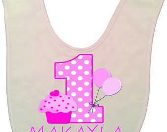 Personalized baby 1st birthday bib Cute infant Bib 1st Birthday Gift Baby drool bib Cake Smash Personalized name on bib birthday Custom