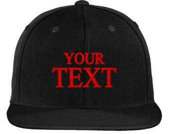 Create Your Own Custom Text Snapback Hat