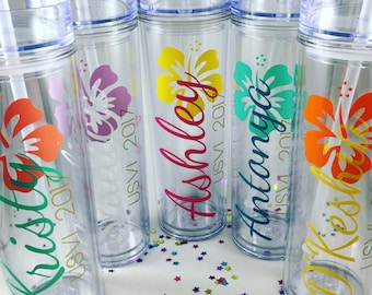 Personalized Tumbler,Bridesmaids Gift,Custom Tumbler,Bridesmaid Tumbler,Personalized Tumbler with Straw,Cup with name, Flower Tumbler, Gifts
