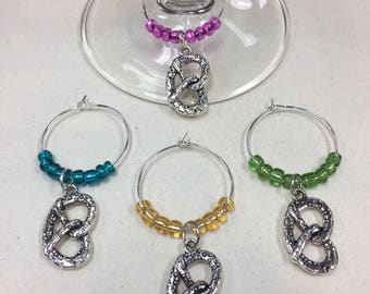 Pretzel Wine Charms