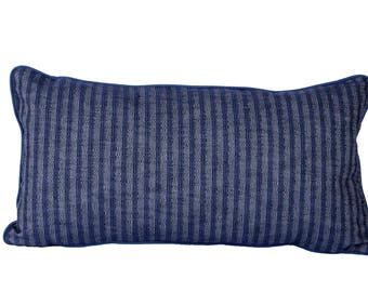 Denim striped Pillow