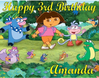 Dora Cake Topper Etsy - Dora birthday cake toppers