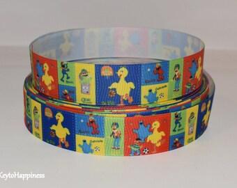 "Sesame Street 1"" Grosgrain Ribbon 610 By the Yard"