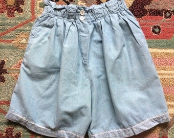 Vintage Cotton High Waisted Shorts