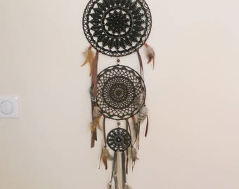 Dream catcher triple circle black and Brown