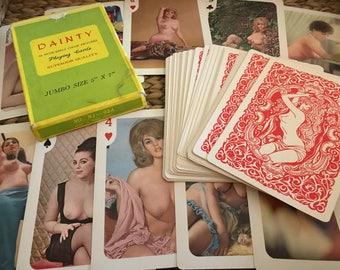 Vintage Adult Nudie Pinup Cards - Jumbo Size