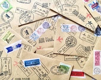Envelopes, stamped envelopes , travel envelopes, mini envelopes,