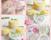 Green Tea Body Butter - Acne Blemishes - Dark Spot - Normal Sensitive Oily Skin - Sun Burn Rash Remedy - Vegan Organic Lotion - Paraben Free