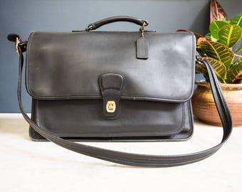 Vintage Leather Coach Briefcase