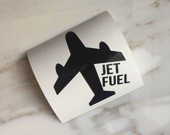 Jet Fuel Decal | Travel | Flight Attendant Gift