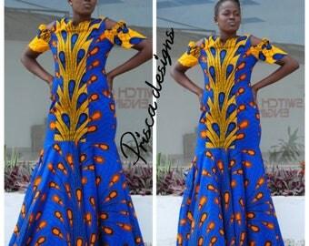 women wear, prom dress, dinner dress, Dashiki prom dess, African wedding gowns