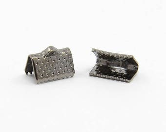 Set of 10 ribbons of iron, Black 10 x 7 mm